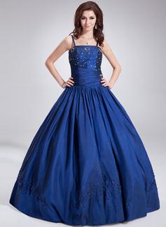 Duchesse-Linie Bodenlang Taft Quinceañera Kleid (Kleid für die Geburtstagsfeier) mit Perlen verziert Pailletten