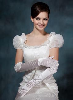 Elastic Satin Opera Length Party/Fashion Gloves/Bridal Gloves