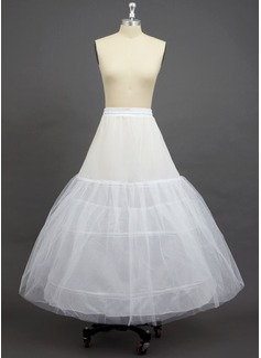Damen Tüll Netting/Polyester Knöchellangen 3 Ebenen Unterröcke