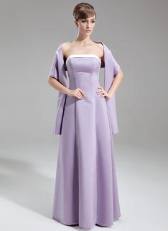 Corte A/Princesa Estrapless Vestido Satén Dama de honor con Fajas