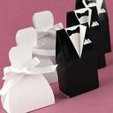 Braut u. Bräutigam Geschenkboxen mit Bänder (Satz von 6 Paaren)