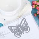 Schmetterling Edelstahl Lesezeichen mit Quaste