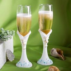 Thème de plage Flûtes à champagne
