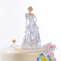 Magnifique mariée de conte de fées Résine Mariage Décoration pour gâteaux
