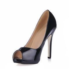 Patent Leather Stiletto Heel Sandals Platform Peep Toe shoes