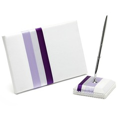 Stripe Design Sash Guestbook/Pen Set