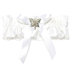 Attractive Satin With Bowknot Rhinestone Wedding Garters