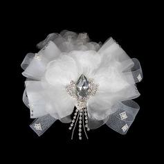 Klassische Kristall Des chiffon Tüll Blumen