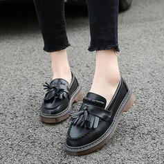 De mujer Cuero Tacón plano Planos con Borla zapatos