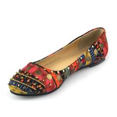 Leatherette Flat Heel Flats Closed Toe shoes