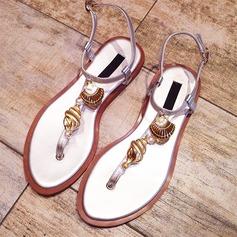 Women's Real Leather Flat Heel Peep Toe Sandals Beach Wedding Shoes