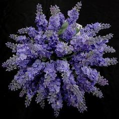 Pretty/Lavender Free-Form Satin Bridesmaid Bouquets -