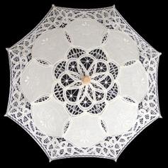 Cotton Wedding Umbrellas With Embroidery