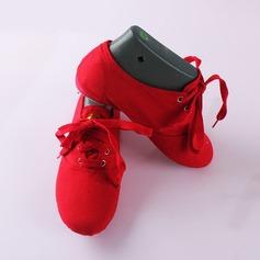 Women's Canvas Flats Ballet Jazz Dance Shoes