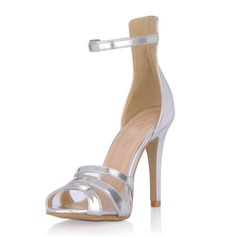 Patent Leather Stiletto Heel Sandals Pumps With Buckle shoes