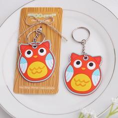 Lovely Owl Shaped Plastic Keychains