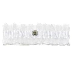 Ewigkeit Satiniert mit Strass Hochzeit Strumpfbänder